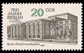 20 Pf Briefmarke: 750 Jahre Berlin, Friedrichstadtpalast