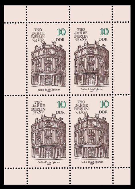 Briefmarke: Kleinbogen - 750 Jahre Berlin, Palais Ephraim
