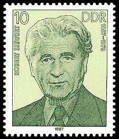 10 Pf Briefmarke: Verdienstvolle Persönlichkeiten der Arbeiterbewegung, Robert Siewert