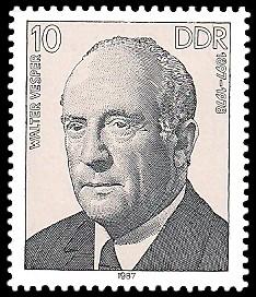 10 Pf Briefmarke: Verdienstvolle Persönlichkeiten der Arbeiterbewegung, Walter Vesper