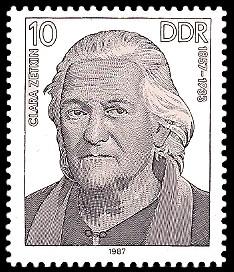 10 Pf Briefmarke: Verdienstvolle Persönlichkeiten der Arbeiterbewegung, Clara Zetkin