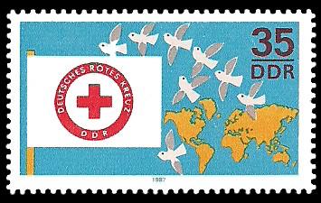 35 Pf Briefmarke: DRK - Deutsches Rotes Kreuz