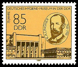 85 Pf Briefmarke: 75 Jahre Deutsches Hygiene-Museum
