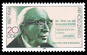 20 Pf Briefmarke: Bedeutende Persönlichkeiten, Arnold Zweig