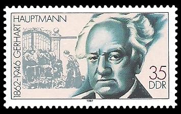 35 Pf Briefmarke: Bedeutende Persönlichkeiten, Gerhart Hauptmann