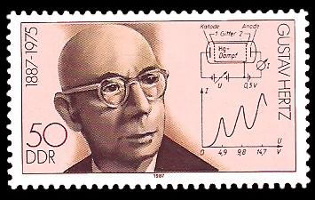50 Pf Briefmarke: Bedeutende Persönlichkeiten, Gustav Hertz