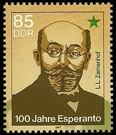 85 Pf Briefmarke: 100 Jahre Esperanto
