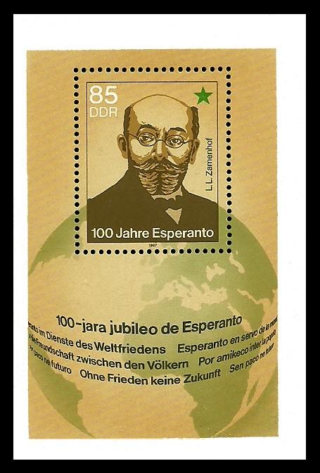 Briefmarke: Block - 100 Jahre Esperanto