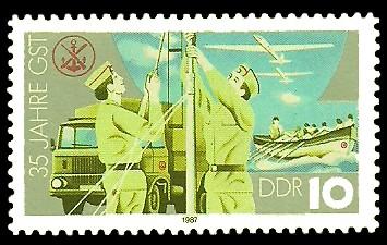 10 Pf Briefmarke: 35 Jahre GST