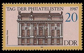 20 Pf Briefmarke: Tag der Philatelisten 1987, Wartenberg-Palais Bln