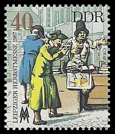 40 Pf Briefmarke: Leipziger Herbstmesse 1987