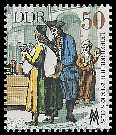 50 Pf Briefmarke: Leipziger Herbstmesse 1987