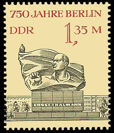 1,35 M Briefmarke: 750 Jahre Berlin, Ernst-Thälmann-Denkmal