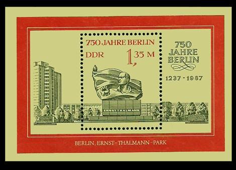 Briefmarke: Block - 750 Jahre Berlin, Thälmann-Denkmal