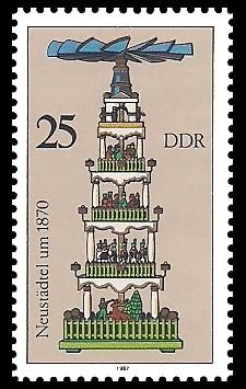 25 Pf Briefmarke: Weihnachtspyramiden aus dem Erzgebirge, Neustädtel
