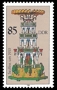85 Pf Briefmarke: Weihnachtspyramiden aus dem Erzgebirge, Seiffen