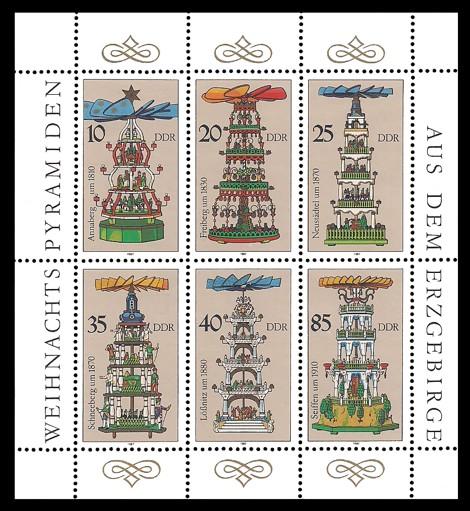 Briefmarke: Kleinbogen - Weihnachtspyramiden aus dem Erzgebirge