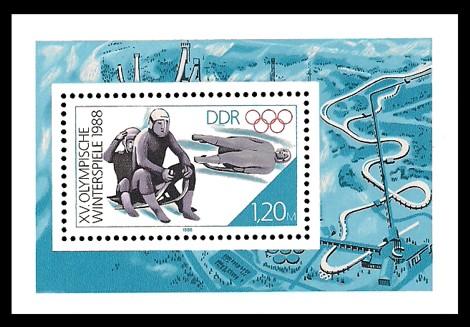 Briefmarke: Block - XV. Olympische Winterspiele 1988
