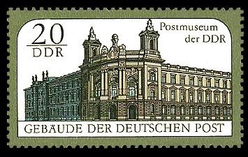 Gebäude Der Deutschen Post Postmuseum Der Ddr Briefmarke Ddr