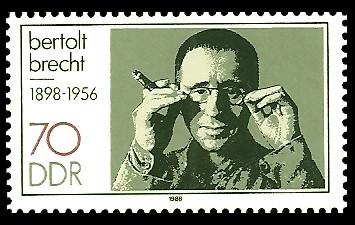 70 Pf Briefmarke: Bertolt-Brecht-Ehrung