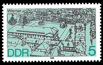 5 Pf Briefmarke: Stadtansichten, Wismar