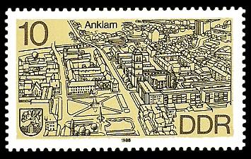 10 Pf Briefmarke: Stadtansichten, Anklam