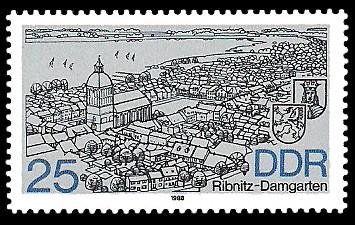 25 Pf Briefmarke: Stadtansichten, Ribnitz-Damgarten