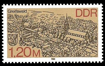 1,20 M Briefmarke: Stadtansichten, Greifswald