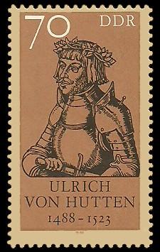 70 Pf Briefmarke: 500. Geburtstag Ulrich von Hutten