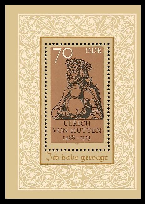 Briefmarke: Block - 500. Geburtstag Ulrich von Hutten