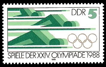 5 Pf Briefmarke: Spiele der XXIV. Olympiade 1988, Schwimmen