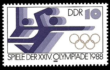 10 Pf Briefmarke: Spiele der XXIV. Olympiade 1988, Handball