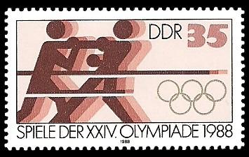 35 Pf Briefmarke: Spiele der XXIV. Olympiade 1988, Boxen