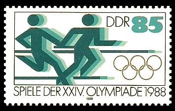 85 Pf Briefmarke: Spiele der XXIV. Olympiade 1988, Staffellauf