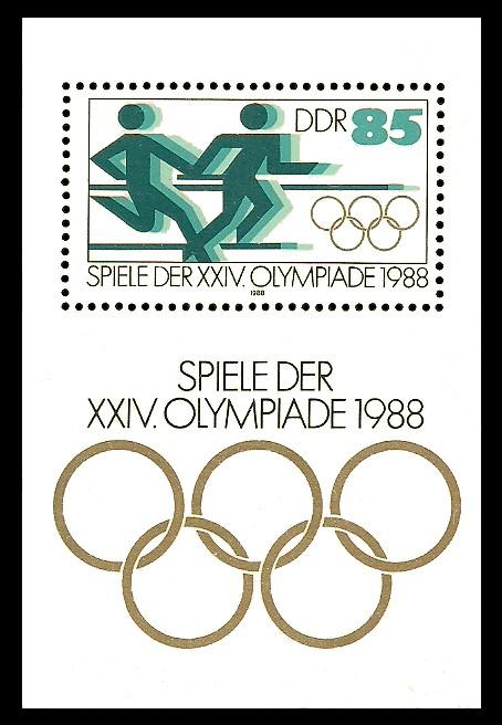 Briefmarke: Block - Spiele der XXIV. Olympiade 1988