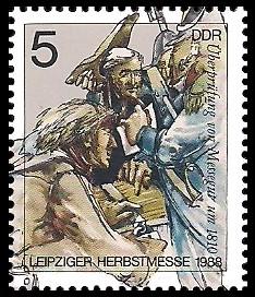 5 Pf Briefmarke: Leipziger Herbstmesse 1988, Überprüfung
