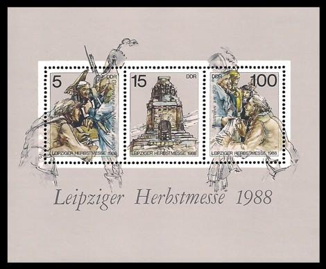Briefmarke: Block - Leipziger Herbstmesse 1988