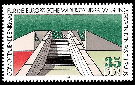 35 Pf Briefmarke: Mahn- und Gedenkstätten, Como in Italien