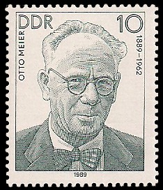 10 Pf Briefmarke: Verdienstvolle Persönlichkeiten der Arbeiterbewegung, Otto Meier