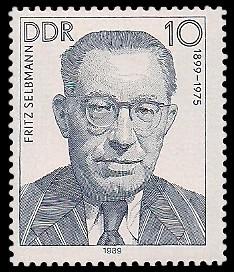 10 Pf Briefmarke: Verdienstvolle Persönlichkeiten der Arbeiterbewegung, Fritz Selbmann