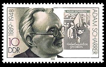 10 Pf Briefmarke: Bedeutende Persönlichkeiten, Adam Scharrer