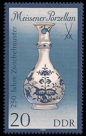 20 Pf Briefmarke: Meissener Porzellan, Vase (gr. Format)