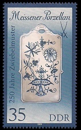 35 Pf Briefmarke: Meissener Porzellan, Stullenbrett (gr. Format)