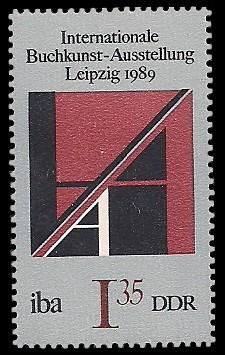 1,35 M Briefmarke: Internationale Buchkunst-Ausstellung, Initial A