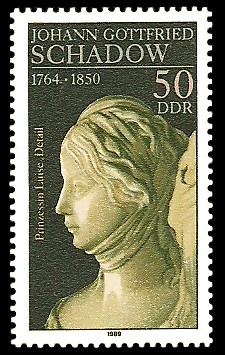 50 Pf Briefmarke: 225. Geburtstag J. G. Schadow, Prinzessin Luise