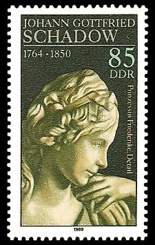 85 Pf Briefmarke: 225. Geburtstag J. G. Schadow, Prinzessin Friederike