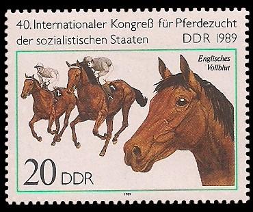 20 Pf Briefmarke: 40. Internationaler Kongress der Pferdezucht, Englisches Vollblut