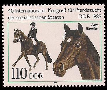 110 Pf Briefmarke: 40. Internationaler Kongress der Pferdezucht, Edles Warmblut