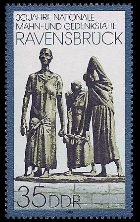 35 Pf Briefmarke: 30 Jahre Nationale Mahn- und Gedenkstätte Ravensbrück