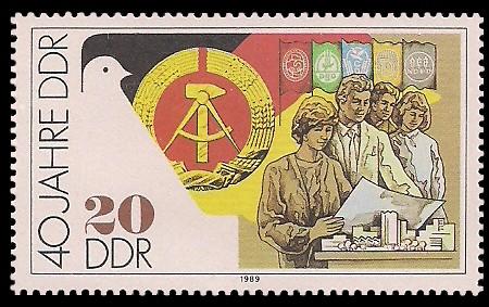 20 Pf Briefmarke: 40 Jahre DDR, Planung